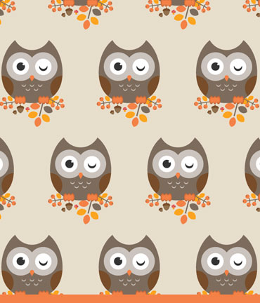 Autumnal owl and pattern made by Diana Roald 09-16