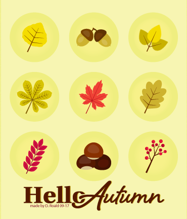 Envato Tuts+ - Autumn Icons - Made by Diana Roald 09-17